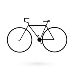 Black icon bicycle. Raster