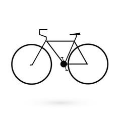 Black icon bicycle. Raster