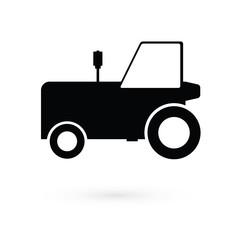 Black tractor. Raster