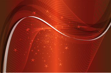 Red Background light wave vector