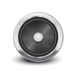 Audio speaker in silver