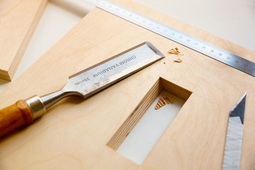 making a component of wood furniture