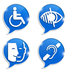bulles 4 pictogrammes handicap