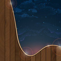 Night Sky Hand Drawn Watercolor Background