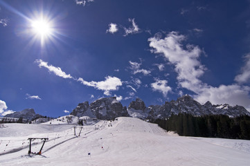 Winter in Dolomites Mountain