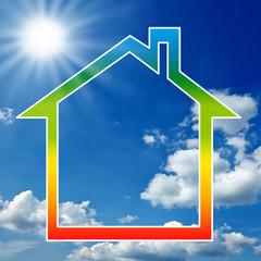 Haus mit Verlauf Energieeffizienz