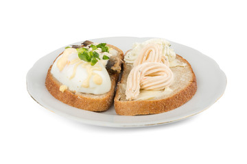 sandwich cream cheese and onions