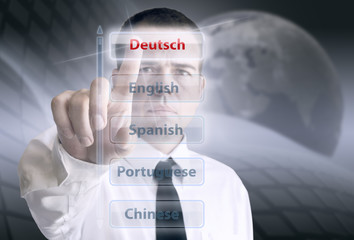 languages ​​menu Deutsch
