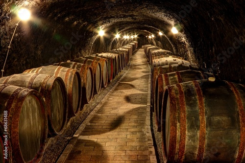 Wine cellar in Tokaj, Hungary - 68631488