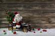 Weihnachtskarte lustig witzig mit Santa Claus im Auto