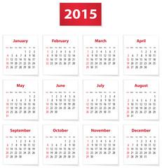 2015 English calendar
