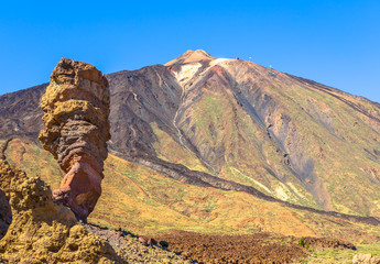Roque Cinchado and the Teide volcano in Tenerife