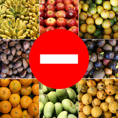 food prohibited for import into the country..