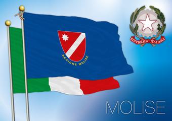 molise regional flag, italy