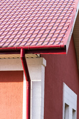 House with gutter system