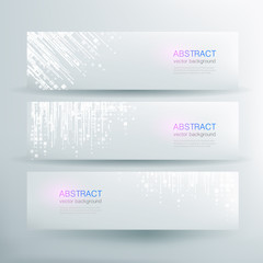 Abstract vector banner