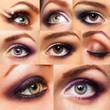 Collection beautiful womanish eye with glamorous makeup