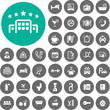 Hotel icons set. Illustration eps10 - 68634494
