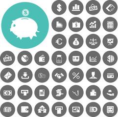 Business & Finance Icons set. Illustration eps10