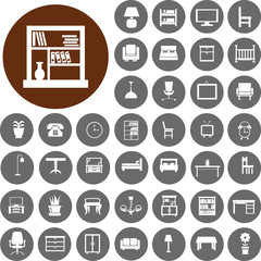 Furniture Icons set2. Illustration eps10