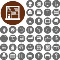 Furniture Icons set2. Illustration eps10