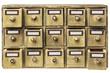 Leinwanddruck Bild - primitive drawer cabinet