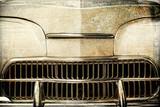 Detale zabytkowego auta w stylu retro