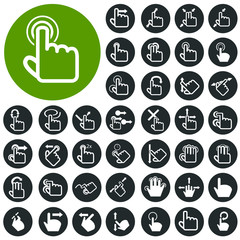 Touchpad hand gestures icons set. Illustration eps10
