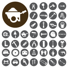 Work Tools icons set. Illustration eps10