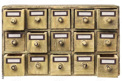 Leinwanddruck Bild primitive drawer cabinet