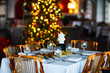 Table setting for Christmas party - 68635215