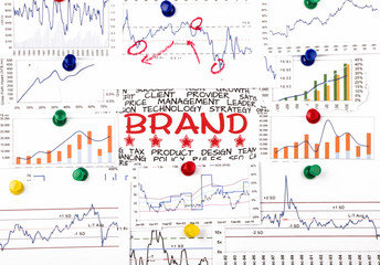 brand concept with financial graph and chart