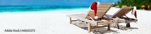canvas print picture Christmas beach vacation