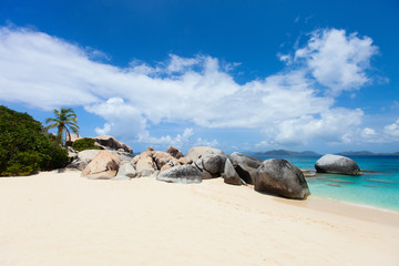 Picture perfect beach at Caribbean