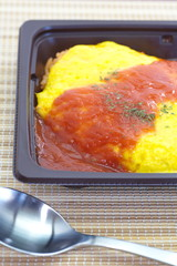 Japanese cuisine omelette made with fried rice