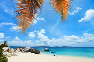Beautiful beach in Caribbean