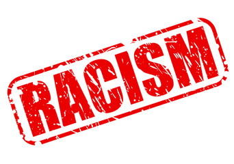 Racism red stamp text