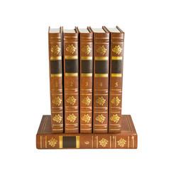 Six brown books