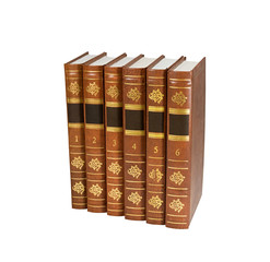 Six book volumes