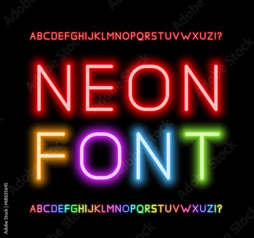 Neon Font - 68635645