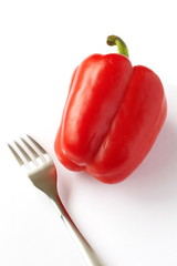 food ingredient and vegetable , red bell pepper