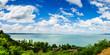 View of Balaton lake from Tihany abbey - Hungary