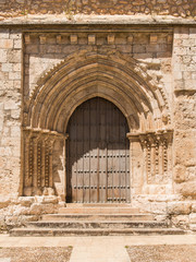 Puerta en Iglesia de San Felipe. Brihuega. Guadalajara. España