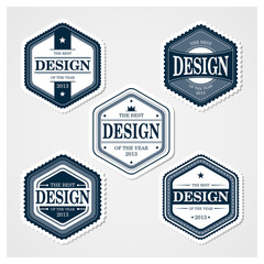 Awesome Badges Template 02. 5 ready used badge designs