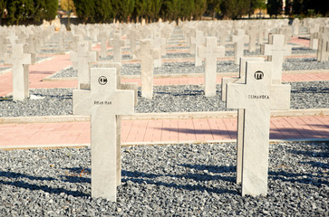 Graves at the French part of the WWI Cemeteries, Thessaloniki