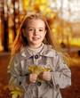 happy children in autumn park