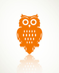 Vector Illustration of a Halloween Owl