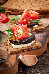 Vegetarian Diet Crispbread sandwiches