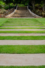 Lawn Walkway to Garden Stairs