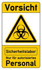Warnschild für Biosafety Level - Sicherheitslabor g1021
